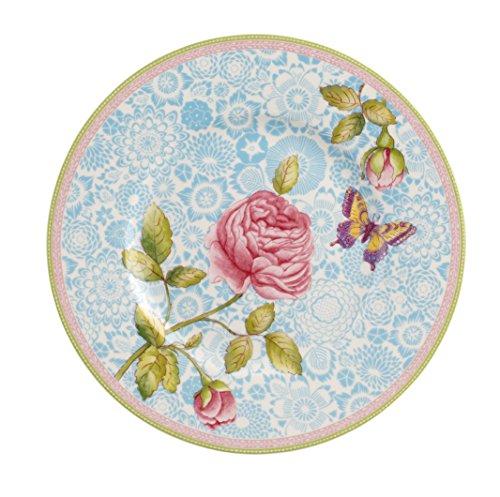 Villeroy Boch Rose Cottage Frühstücksteller 22 cm Premium Porzellan Blau