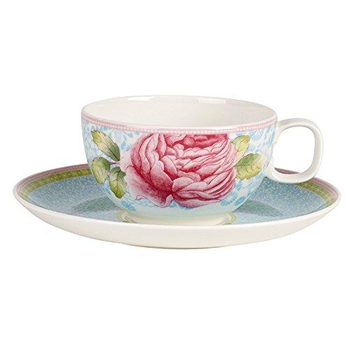Villeroy Boch Rose Cottage Tee-Set 2-teilig Premium Porzellan Blau