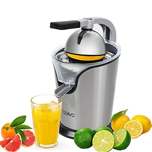 OZAVO Zitruspresse elektrisch Orange Saftpresse mit Hebelarm Citrus Juicer für frische Zitrusfrüchten Anti-Tropf Mechanismus leise Motor