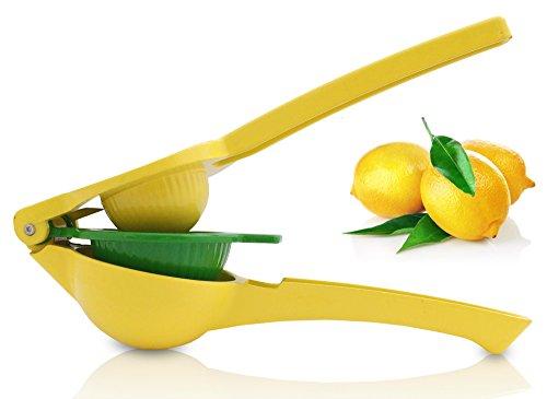 Rummershof Zitronenpresse Limettenpresse Manuell - Zitruspresse 3-in-1 gelb grün Aluminium emailliert 1