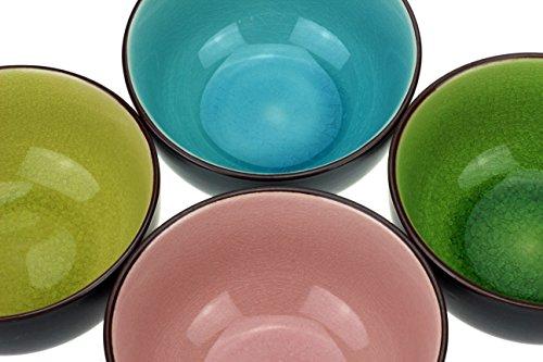 4 x Urban Lifestyle Teeschale Matchaschale Set in 4 verschiedenen Farben