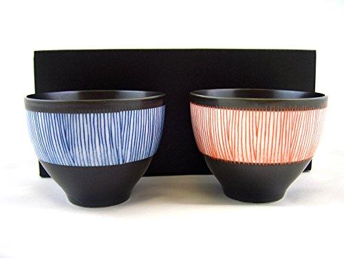 Japanisches Teeschalen Set Kuro TOKUSA Porzellan Geschenk-Set Schwarz Hergestellt in Japan Ø 78 H 6 cm