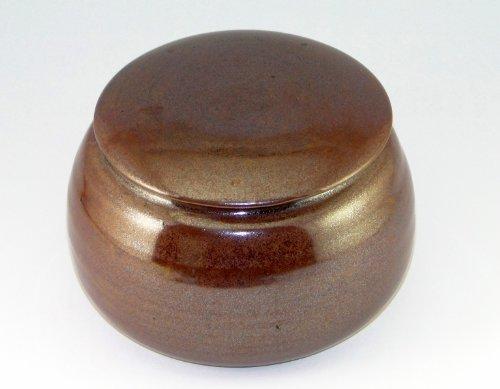 Original französische wassergekühlte keramik butterdose tenmoko rotbraun B-G