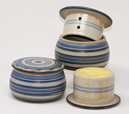 original französische wassergekühlte keramik butterdose immer frische und streichzarte butter zum frühstück ca 250 g butter syn B-G