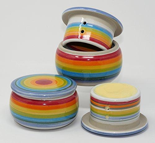 original französische wassergekühlte keramik butterdose nie mehr harte butter zum frühstück für ca 125 g bob marly B-K