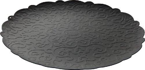 Alessi Dressed Tablett Rund aus Edelstahl schwarz