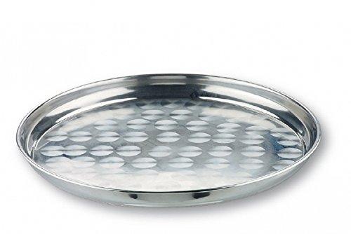 My-Gastro Stahl Tablett Serviertablett Gläsertablett rund Ø 45 cm Edelstahl Gastro