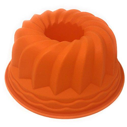 Home Point - Silikon Gugelhupf Form Kuchen Form mit Antihafteigenschaft – BPA-frei Ø 23cm spülmaschinengeeignet Gas- Elektro- und Heißluftherd geeignet