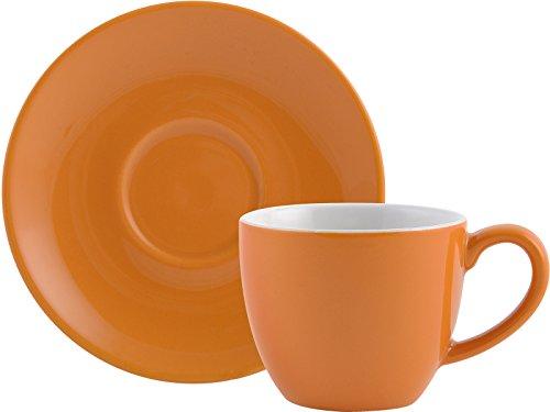 RANDWYCK Espresso Tasse und Untertasse orange