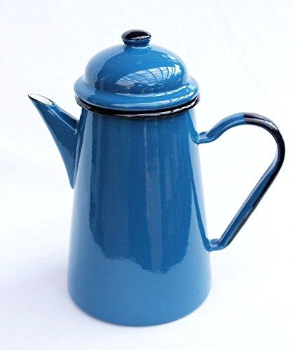 DanDiBo Kaffeekanne 578TB Blau 10 L emailliert 22 cm Wasserkanne Kanne Emaille Nostalgie Teekanne