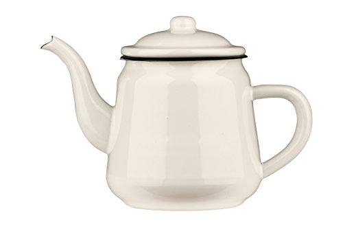 Premier Housewares Teekanne Dunkelblau Emaille Emailliert weiß 2200 ml 15x27x18