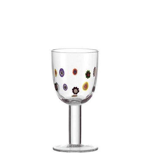 6er Set Leonardo Weißweinglas Millefiori Bunt
