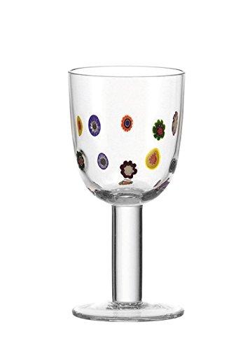 Leonardo Weißwein Gläser Millefiori 4er-Set