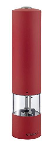 FACKELMANN 55500 Stoha Elektrische Salz und Pfeffermühle - Soft 21 cm rot