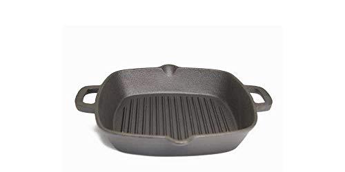 Gusseisenpfanne 26 cm Bratpfanne für alle Herdarten auch Induktion Grill Pfanne Cast Iron Pfanne 28 cm Grill