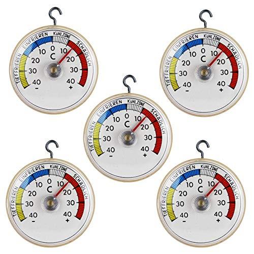 Lantelme 5 St Kühlschrank Thermometer AnalogBimetall  Klebe mit Metallhaken Kühlschrankthermometer 4094