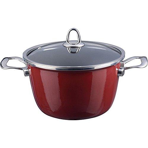 Kochstar 33603024 Fleischkasserolle Copper Core Cookware mit Glasdeckel 24 cm bordeaux