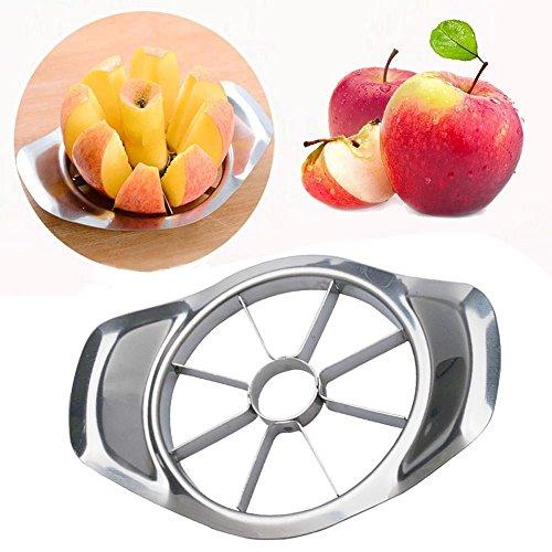 Doublehero Edelstahl 8-Blatt Apfel Birne Easy Cut Schneidemaschine Cutter Divider Peeler Apfel Schneider Apfel Slicer Silber
