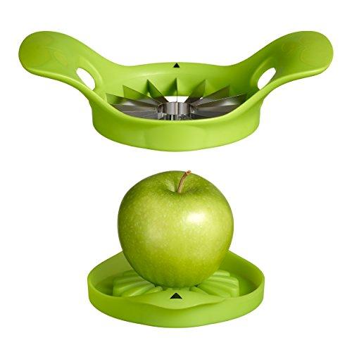 Moha 25214 Apfelschneider Apple 16 mit 16 Spalten Edelstahl grün 20 x 20 x 5 cm