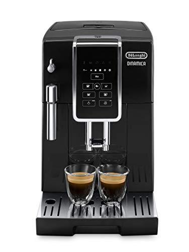 De'Longhi Dinamica ECAM 35015B Kaffeevollautomat 1450 Watt Digitaldisplay Milchaufschäumdüse Lieblingsgetränke auf Knopfdruck Herausnehmbare Brühgruppe 2-Tassen-Funktion schwarz