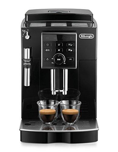 DeLonghi ECAM 25120B Kaffeevollautomat  Direktwahltasten und Drehregler  Profi-Aufschäumdüse  2-Tassen-Funktion  Kegelmahlwerk 13 Stufen  Herausnehmbare Brühgruppe  schwarz
