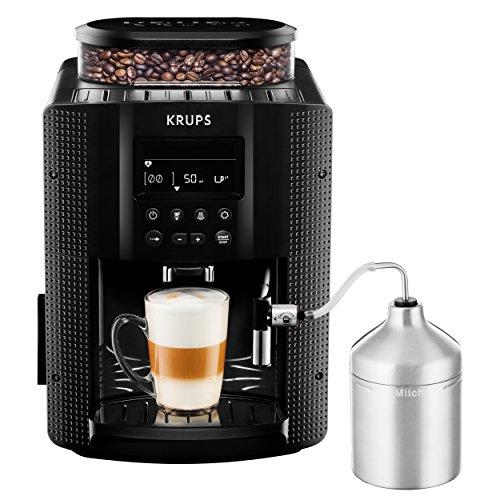Krups EA8160 Kaffeevollautomat 1450 Watt 18 Liter 15 bar LC Display Cappuccinatore schwarz