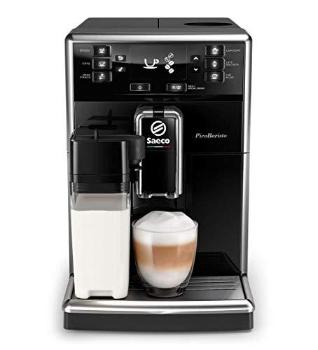 Saeco SM546010 PicoBaristo Kaffeevollautomat 18L integriertes Milchsystem 10 Kaffeespezialitäten schwarz