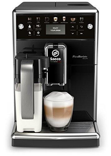 Saeco SM557010 PicoBaristo Deluxe Kaffeevollautomat LED Display integriertes Milchsystem schwarz