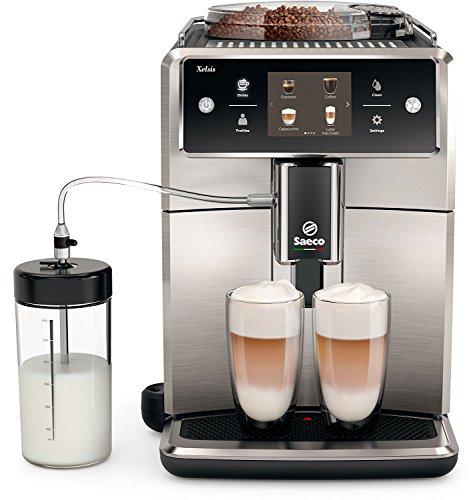 Saeco Xelsis SM768300 Kaffeevollautomat 17L Touchscreen Scheibenmahlwerk aus Keramik 15 Kaffeespezialitäten edelstahlschwarz