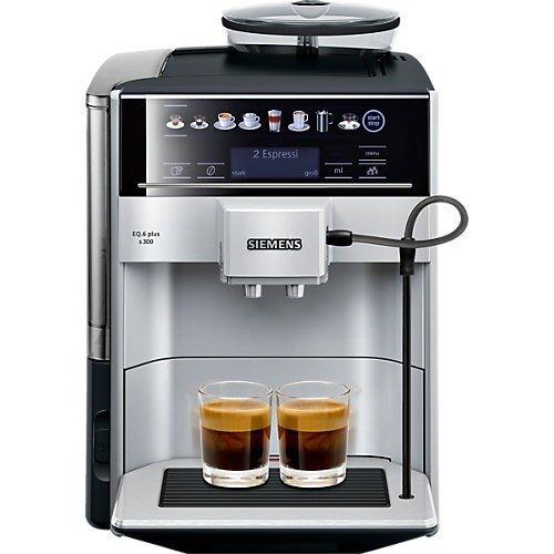 Siemens EQ6 Plus s300 TE653501DE Kaffeevollautomat 1500 Watt Keramik-mahlwerk Touch-Sensor-Direktwahltasten personalisiertes Getränk silber
