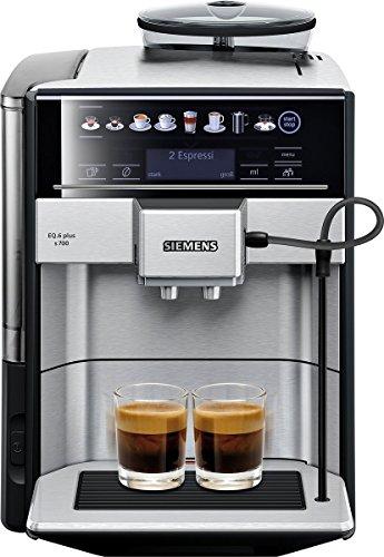 Siemens EQ6 Plus s700 TE657503DE Kaffeevollautomat 1500 Watt Keramik-mahlwerk Touch-Sensor-Direktwahltasten personalisierte Getränke Doppeltassenbezug edelstahl