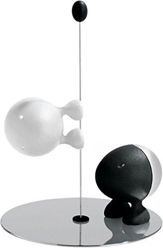 Alessi Menage Salz und Pfeffer Weiss und schwarz thermoplastisches Harz 31 x 118 x 31 cm