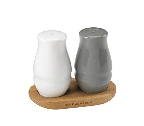 Cole Mason Keramik Salz&Pfeffer Streuer Holz weißanthrazitbraun 76 x 135 x 88 cm