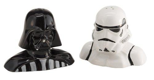Star Wars 54017 - Darth Vader und Storm Trooper Salz- und Pfefferstreuer im Set 9 x 6 x 75 cm