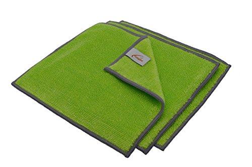 Putzglanz Premium Bambustücher zur optimalen Reinigung in der Küche – Bambus Reinigungstücher waschbar saugstark umweltfreundlich reißfest 3er Pack