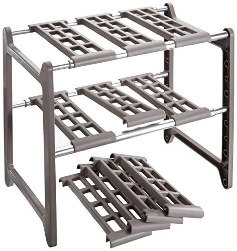 WENKO 2768010100 Küchen-Unterschrankregal Flexi - variabel Aluminium 44-82 x 39 x 28 cm Aluminium