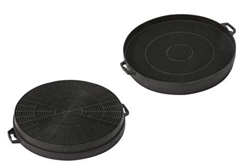 DREHFLEX - AK01-2 - 2 Kohlefilter SPARSET 210mm Durchmesser für Dunsthaube Dunstabzugshaube Abzugshaube