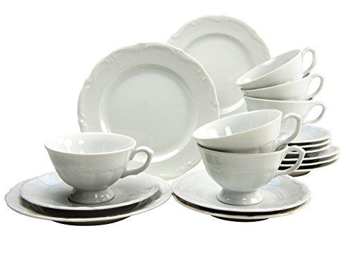 CreaTable 16136 Serie Maria Theresia Geschirrset Kaffeeservice 18 teilig