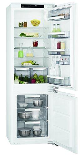 AEG SCE81821LC Einbau Kühl-Gefrier-Kombination mit Gefrierteil unten  186 l Kühlschrank  72 l Gefrierschrank  LowFrost  Coolmatic  Frostmatic  Einbau-Höhe 178 cm  weiß