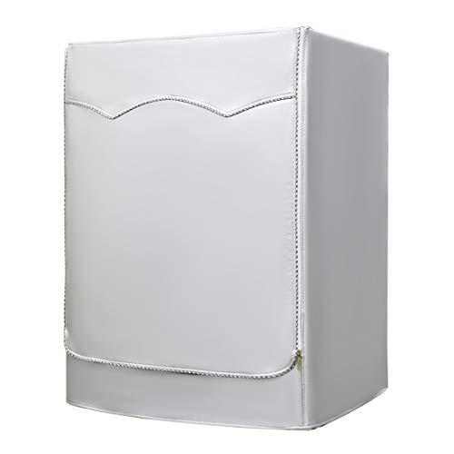 AKEfit waschmaschine abdeckung für für Frontbelastung Wasserdicht Staubdicht Waschmaschine Trockner decken Silber W60×D64×H85cm