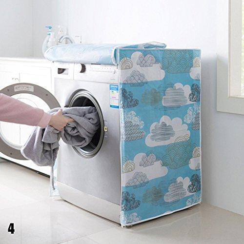 Zhuotop Waschmaschinen-Abdeckung Staubschutz Clouds