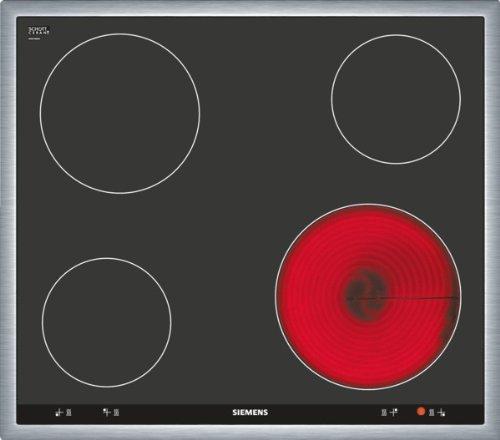 Siemens EA645GE17 iQ514 Kochfeld Elektro  583 cmBedienung der Kochzonen über die Drehwähler am Einbauherd  Steuerung mechanischschwarz
