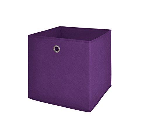 Möbel Akut Faltbox 4er Set in der Farbe brombeer Aufbewahrungsbox für Raumteiler oder Regale