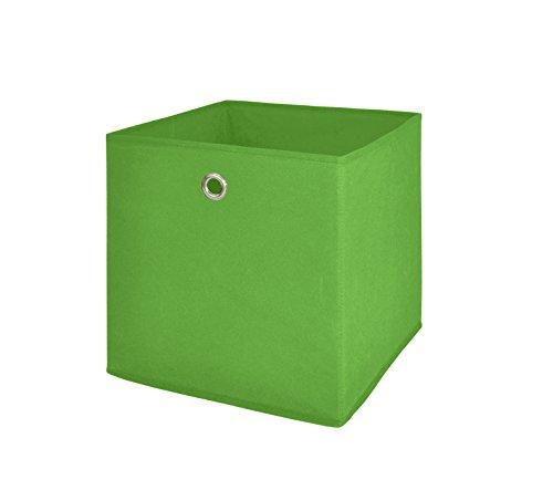 Möbel Akut Faltbox 4er Set in grün Aufbewahrungsbox für Raumteiler oder Regale