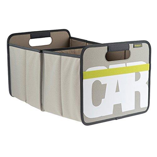 Meori Faltbox Classic Large Stein GrauCAR 32x50x275cm abwischbar stabil Polyester platzsparend Garage Garten Werkstatt Ausstattung mit Griffen Autobox Kofferraum