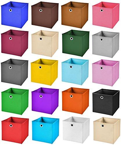 StickandShine 2er Set Pink Faltbox 28 x 28 x 28 cm Aufbewahrungsbox faltbar