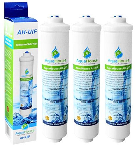 3x AquaHouse UIFA Kompatibel Filter passend für AEG Electrolux Bosch Bauknecht Neff Siemens Hotpoint Kühlschränke mit externem Wasserfilter DD-7098497818