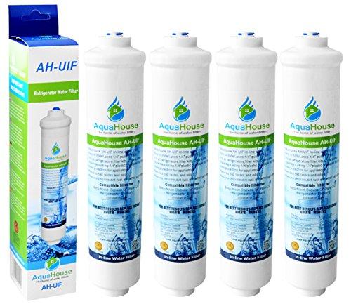4x AquaHouse UIFA Kompatibel Filter passend für AEG Electrolux Bosch Bauknecht Neff Siemens Hotpoint Kühlschränke mit externem Wasserfilter DD-7098497818