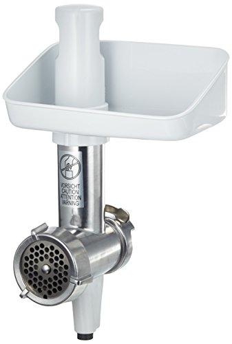 Bosch MUZ4FW3 Fleischwolf passend für Bosch Küchenmaschinen MUM4 1kg pro Minute Alu silberweiß