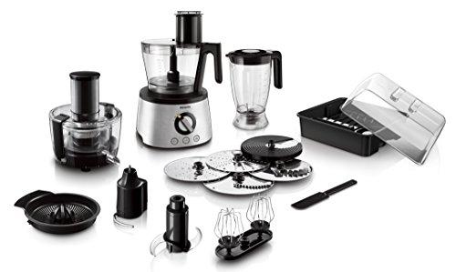 Philips HR777800 Küchenmaschine 1300 Watt inkl Knethaken Entsafter Standmixer und Zitruspresse schwarzsilber